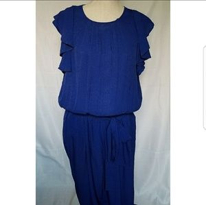 Women's Plus Size 14 Blue Jumpsuits Belted